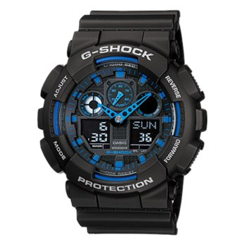 CASIO G-SHOCK GA-100-1A2 Men's Black Resin Strap Watch