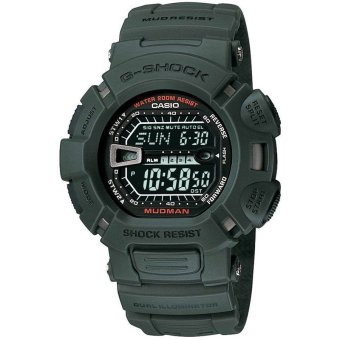 Casio G-Shock Men's Army Green Resin Strap Watch G-9000-3
