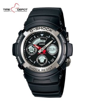 Casio G-Shock Men's Black Resin Strap Watch AW-590-1A