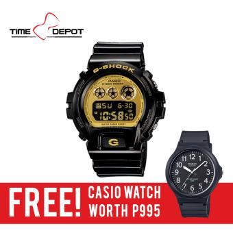 Casio G-Shock Men's Black Resin Strap Watch DW-6900CB-1D with FREE Casio Watch MW-240-1B