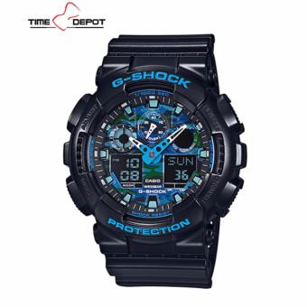 Casio G-Shock Men's Black Resin Strap Watch GA-100CB-1A