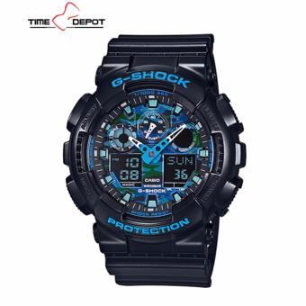Casio G-Shock Men's Black Resin Strap Watch  GA-100CB-1A