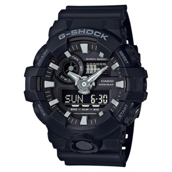 Casio G-Shock Men's Black Resin Strap Watch GA-700-1B - intl