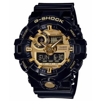 Casio G-Shock Men's Black Resin Strap Watch GA-710GB-1A - intl