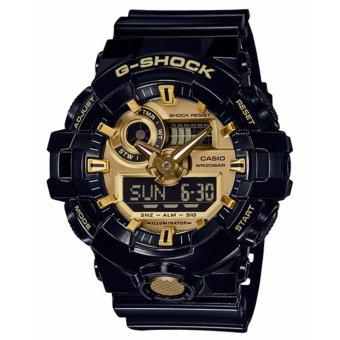 Casio G-Shock Men's Black Resin Strap Watch GA-710GB-1A - intl