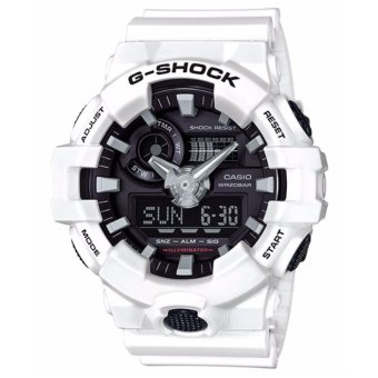 Casio G-Shock Men's White Resin Strap Watch GA-700-7A - intl
