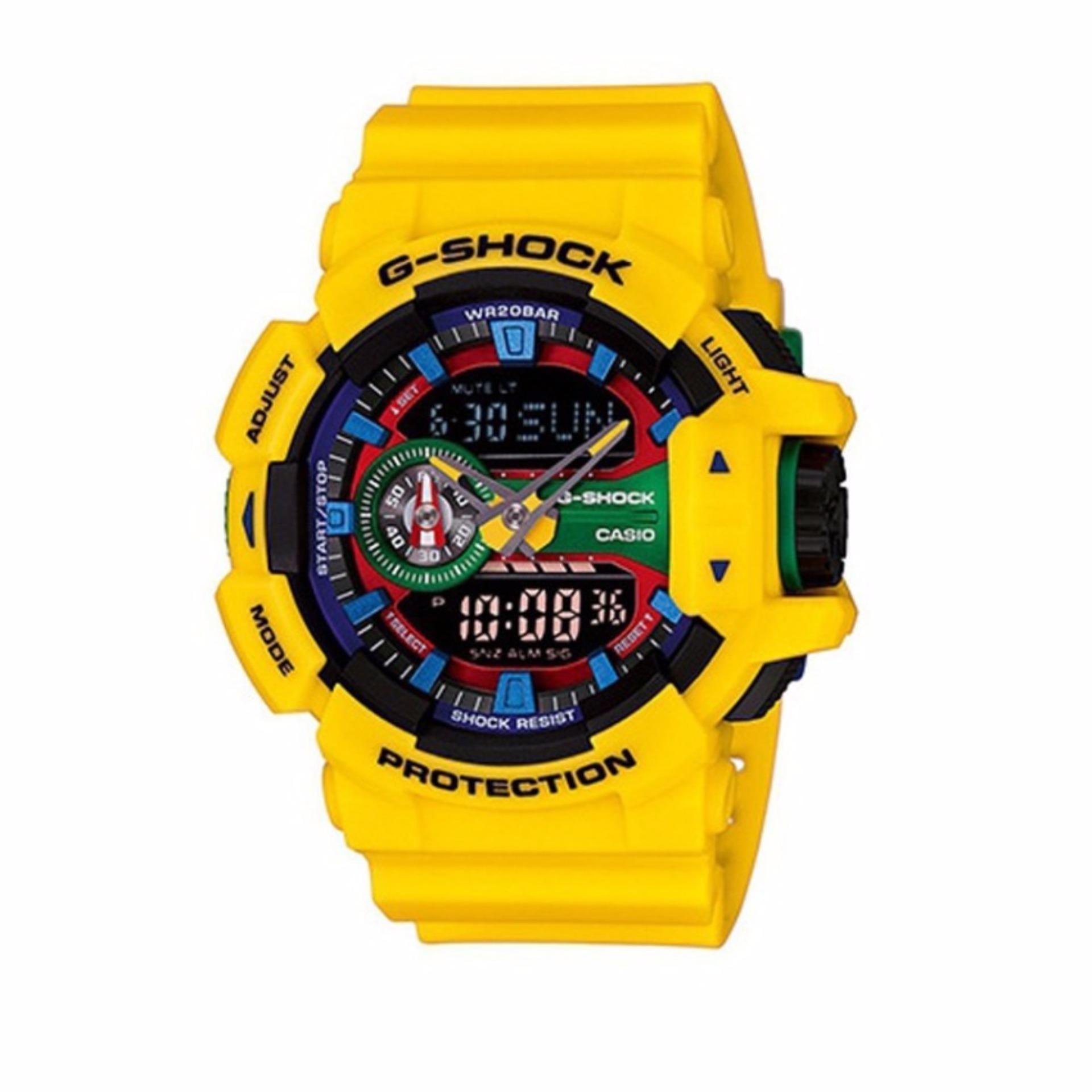 Philippines Casio G Shock Mens Yellow Plastic Strap Watch Ga400 Ga 110gw 7a 9a