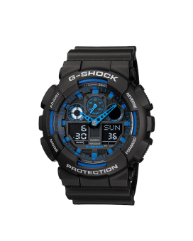 Casio G-Shock Men's Black Resin Strap Watch GA-100-1A2D with 1 Year Warranty (T1Y)