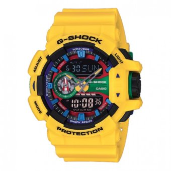 Casio G Shock Men's Yellow Plastic Strap Watch GA-400-9A