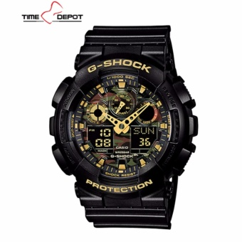 Casio G-Shock with Men's Black Resin Strap Watch GA-100CF-1A9