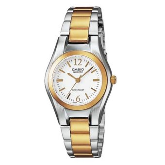 Casio General Ladies' Silver Metal Strap Watch LTP-1253SG-7ADF