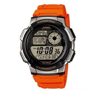 Casio Illuminator Men's Orange Resin Strap Watch AE-1000W-4BVDF