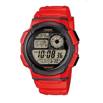 Casio Illuminator Men's Red Resin Strap Watch AE-1000W-4AVDF