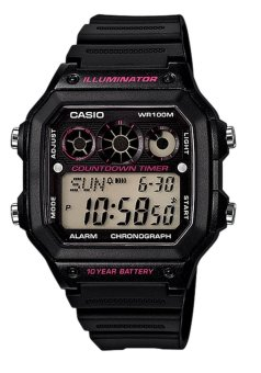 CASIO Illuminator Men's Black Resin Strap Watch AE-1300WH-1A2VDF