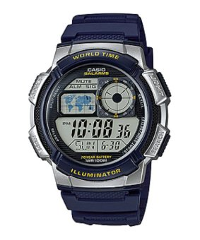 Casio Illuminator Sports Digital Men's Black/Blue Resin Strap Watch AE-1000W-2AVDF