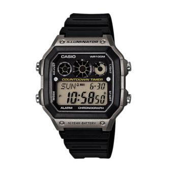 Casio Illuminator Youth Series Black Resin Strap Watch AE-1300WH-8AVDF