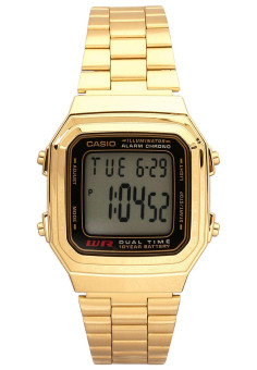 Casio Men`s Stainless Steel Strap Watch A178WGA 1ADF (Gold)