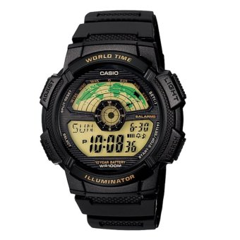 Casio Men's All Black Resin Strap Digital Sports Watch, AE-1100W-1BV