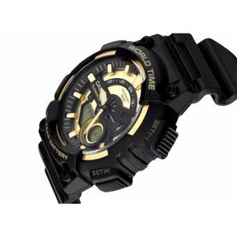 Casio Men's Analog Digital Aircraft Watch Black/Gold AEQ-110BW-9A - 2