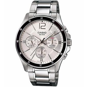 Casio Men's Chronograph Stainless Steel Strap Watch MTP-1374D-7A