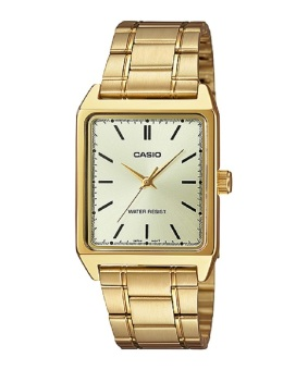 Casio Men's Gold Stainless Steel Strap Watch MTP-V007G-9E