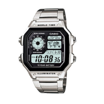 Casio Men's Silver Stainless Steel Strap Watch AE-1200WHD-1AVDF