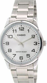Casio Men's Silver Stainless Steel Strap Watch MTP-V001D-7B
