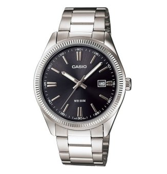 Casio Men's Silver Stainless Steel Watch MTP-1302D-1A1VDF