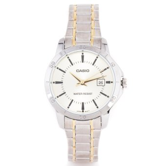Casio Men's Two Tone Stainless Steel Strap Watch LTP V004 SG-Ladies