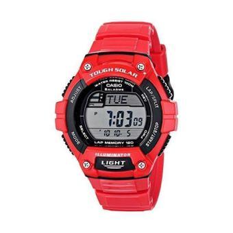 "Casio Men's W-S220C-4AVCF ""Tough Solar"" Digital Sport Watch Red"
