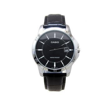 Casio MTP-V004L-1A + LTP-V004L-1A Couples Leather Black Strap Watch - 2