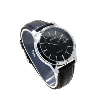 Casio MTP-V004L-1A + LTP-V004L-1A Couples Leather Black Strap Watch - 3