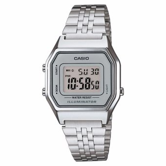 Casio Silver Stainless Steel Band Ladies Digital Watch LA-680WA-7DF