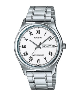 Casio Silver Stainless Steel Band Men'S Watch Mtp-V006D-7B