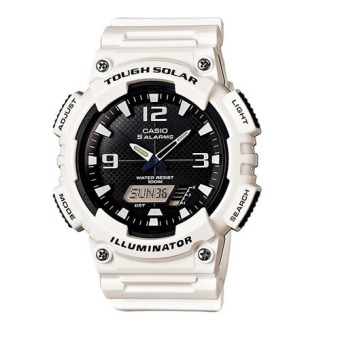 Casio Tough Solar Men's White Resin Strap Watch AQ-S810WC-7AVDF