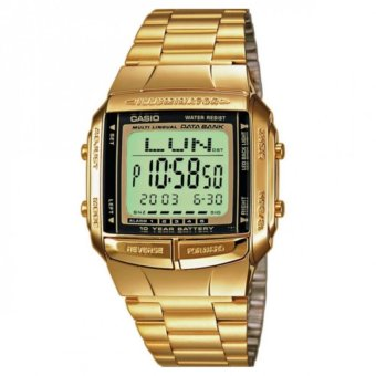 Casio Unisex Gold Stainless Steel Band Watch DB-360G-9ADF