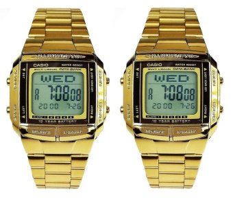 Casio Vintage Couple Gold Stainless Steel Strap WatchDB-360G-9ADF_couple