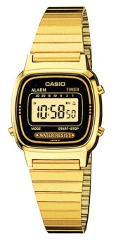 Casio Vintage Gold Stainless Steel Band Women's Watch LA670WGA-1D