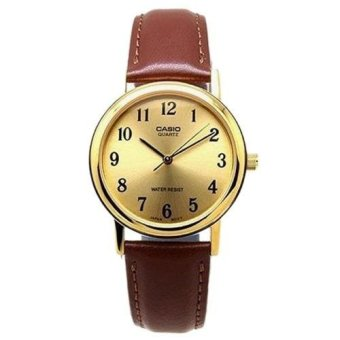Casio Vintage MTP-1095Q-9B Men's and Women's Analog Brown Leather Strap Watch