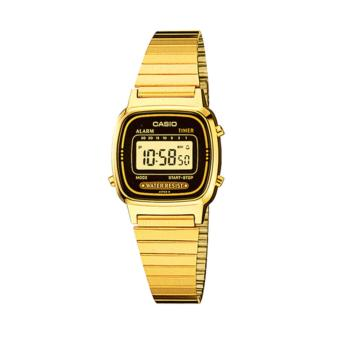 Casio Vintage Series Women's Gold Stainless Steel Band Watch LA670WGA-1DF *N0317*