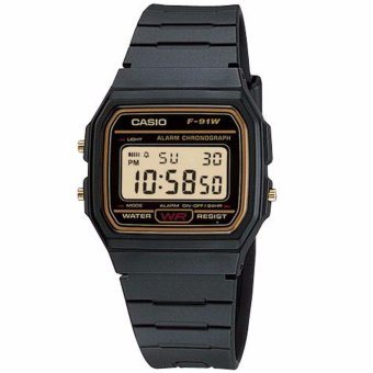 Casio Vintage Unisex Black Resin Strap Watch F-91WG-9QDF