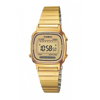 Casio Vintage Women`s Gold Plated Stainless Steel Watch LA670WGA-9DF