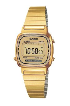Casio Vintage Women's Gold Stainless Steel Strap Watch LA670WGA-9DF