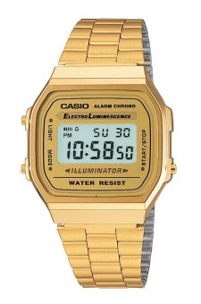 Casio Vintage Women's Gold Stainless Steel Watch A168WG-9WDF