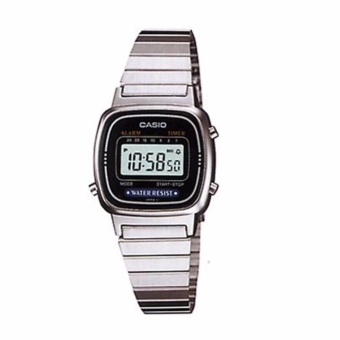 Casio Vintage Women's Stainless Steel Strap Watch LA670WD-1DF