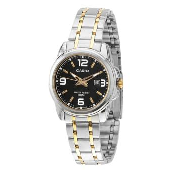Casio Watch Enticer Multicolored Stainless-Steel Case Two-Tone-Stainless-Steel Bracelet Ladies NWT + Warranty LTP-1314SG-1A