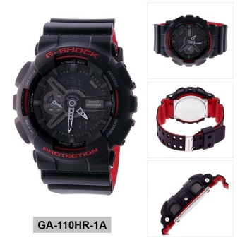 Casio Watch G-SHOCK Black Resin Case Resin Strap Mens NWT + Warranty GA-110HR-1A