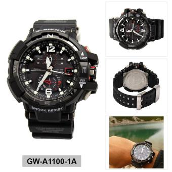 Casio Watch G-SHOCK GRAVITYMASTER Black Resin Case Resin Strap Mens NWT + Warranty GW-A1100-1A Price Philippines
