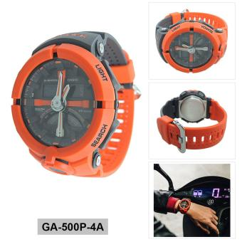 Casio Watch G-SHOCK Red Resin Case Resin Strap Mens NWT + Warranty GA-500P-4A