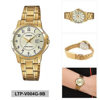 Casio Watch Standard Gold Stainless-Steel Case Stainless-Steel Bracelet Ladies NWT + Warranty LTP-V004G-9B